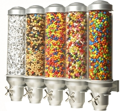 Dry Goods Candy Dispenser 5 Containers From Storage