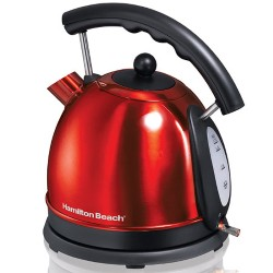 10 Cup Stainless Steel Electric Kettle - Red