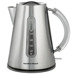 10 Cup Stainless Steel Kettle with Boil-Dry Protection