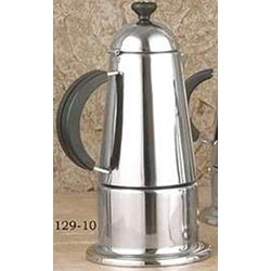 10-Cups Stainless Steel Stovetop Espresso Maker