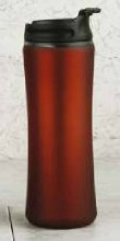 14 oz Red Satin Finish Tumbler with Screw Lid