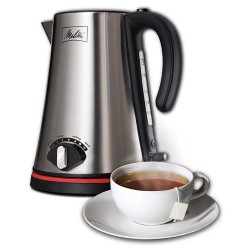 1.7 Liter Cordless Kettle with Adjustable Temperature - Stainless Steel