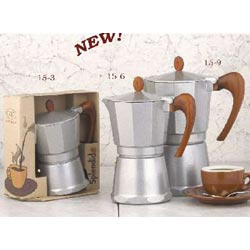 6 Cup Aluminum Stove top Espresso Maker
