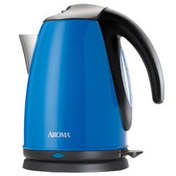 Aroma 7-Cup Electric Water Kettle Blue