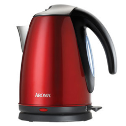 Aroma 7-Cup Electric Water Kettle Red