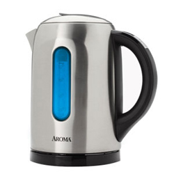 Aroma Gourmet 6-Cup Digital Electric Water Kettle Stainless Steel