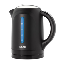 Aroma Gourmet Series 6-Cup Digital Electric Water Kettle Black