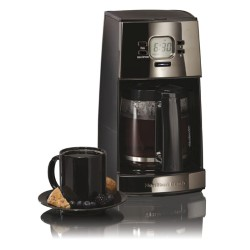 Black Ice Metal Collection 12 Cup Programmable Coffeemaker -  Black