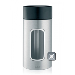 Brabantia FFP Matte Steel Window Canister 1-7 Liter 4-Set