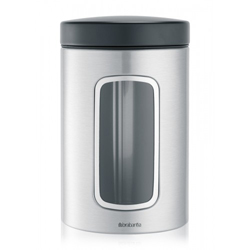 Brabantia Stainless Steel Window Canister 1-4 Liter