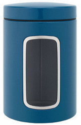 Brabantia Vintage Blue Window Canister 1-4 Liter Set of 4