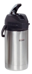 Bunn 32130 3.0 Liter Level-action Airpot - Stainless Steel