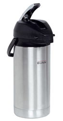 Bunn 36725 3.8 Liter Lever-action Airpot - Stainless Steel