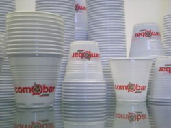Comobar Plastic Espresso Cups 3-5oz CS-4800