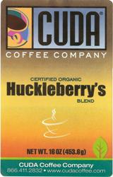 Cuda Certified Organic Huckleberry Whole Bean (1 lb)