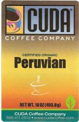 Cuda Coffee Certified Organic Peruvian (1 lb)