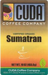 Cuda Coffee Certified Organic Sumatran (1 lb)