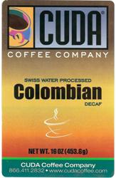 Cuda Coffee Colombian Decaffeinated (1 lb)