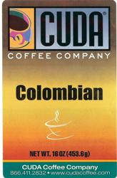 Cuda Coffee Colombian Whole Bean (1 lb)