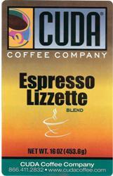 Cuda Coffee Espresso Lizette (1 lb)