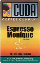Cuda Coffee Espresso Monique (1 lb)