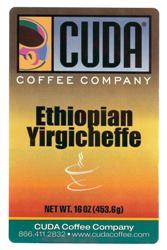 Cuda Coffee Ethiopian Yirgicheffe (1 lb)