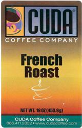 Cuda Coffee French Roast Blend Whole Bean (1 lb)