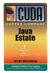 Cuda Coffee Java Estate (1 lb)