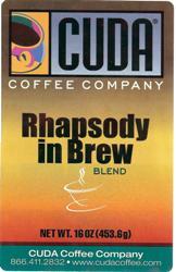 Cuda Coffee Rhapsody in Brew Blend (1 lb)