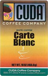 Cuda Coffee White Coffee Carte Blanc (1 lb)