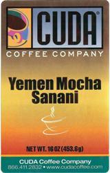 Cuda Yemen Mocha Sanani (1 lb)