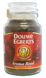 DE Aroma Rood Instant Coffee in jar