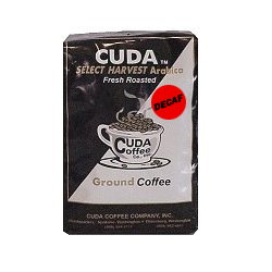 Fresh Roasted Ground Coffee decaf (12oz) - Cuda Select Harvest Blend