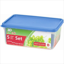 Frieling Emsa 3D Food Storage 5 Piece Container Set 118 oz
