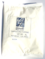 Gabriella Cappuccino-Milk Soluble Topping Case of 12 - 1lb bags