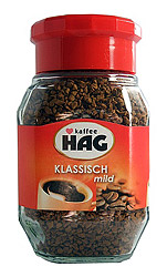 Cafe HAG Classic Mild Instant Decaf Coffee