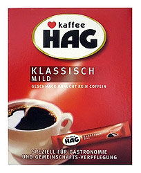 Cafe HAG Classic Instant Decaf in individual pockets