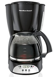 HB 12 Cup Programmable Coffeemaker Black