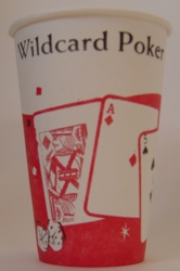 Hot Vending Cups - 8-25oz Wildcard Poker