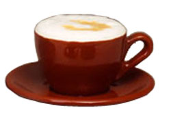 Italian Cafe Style Cappuccino Cup and Saucer - Mocha - 6-5oz