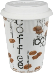 Konitz Coffee Collage Travel Mug w-Lid Set of Two