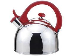 Magefesa 2-1-Quart Acacia Stainless Steel Tea Kettle Red