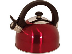 Magefesa 2-1-Quart Sabal Stainless Steel Tea Kettle Red