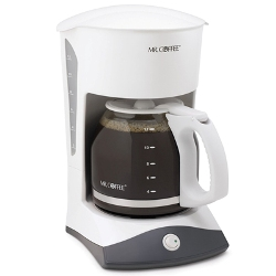 Mr. Coffee 12 Cup Switch Coffee Maker White