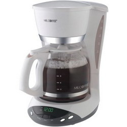 Mr. Coffee DWX20-NP 12-Cup Programmable Coffee Maker (White)
