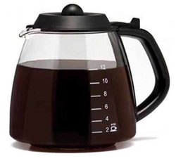 One All Gl312bl4 Universal 12-cup Millenium Style Glass Replacement Carafe - Black