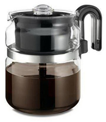 One All Pk008bl6 8-cup Stovetop Glass Percolator