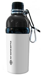 Pet Water Bottle Stainless Steel 16 oz White
