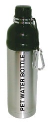 Pet Water Bottle Stainless Steel 24 oz Silver