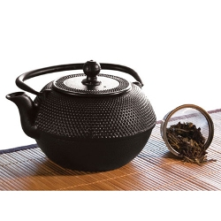 Primula 40 Ounce Cast Iron Teapot Black